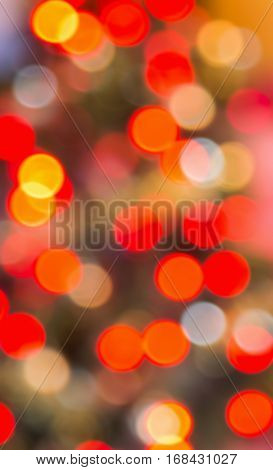 Background of red and orange defocussed lights