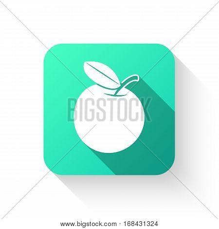 Apple Symbol Icon Flat Style On A White Background.
