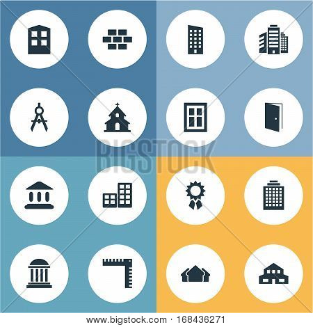 Set Of 16 Simple Construction Icons. Can Be Found Such Elements As Flat, Popish, Construction And Other.