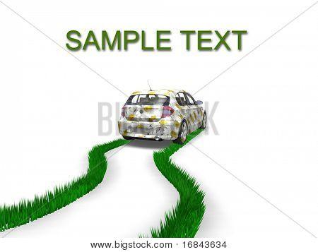 Umweltfreundliche Auto-Konzept