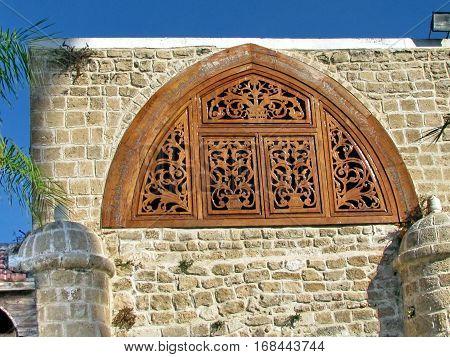 Detail of Mahmoudiya Mosque in old city Jaffa Israel November 9 2011