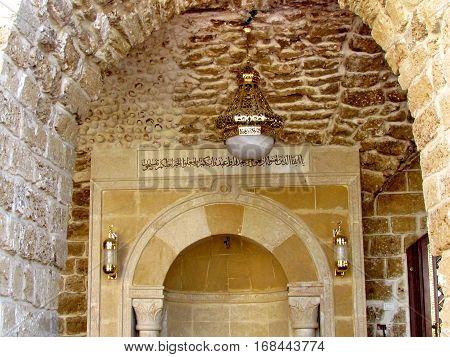 Interior of Mahmoudiya Mosque in old city Jaffa Israel November 9 2011