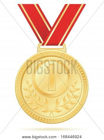 Medal Winner Sport Gold Stock Vector Illustration