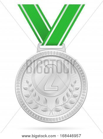 Medal Winner Sport Silver Stock Vector Illustration