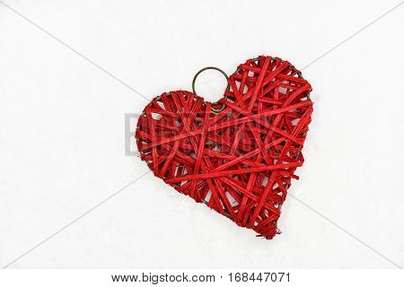 Valentine Heart Isolated On White