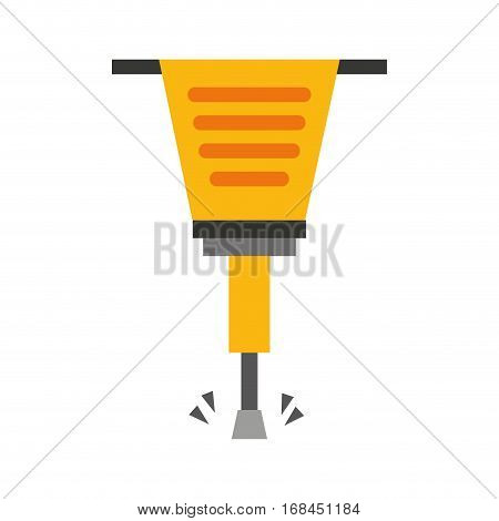pneumatic hammer tool isolated icon vector illustration design