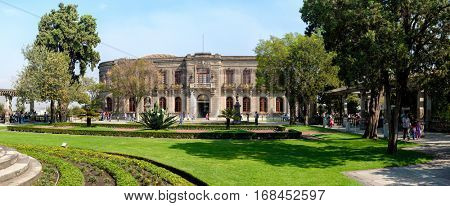 MEXICO CITY,MEXICO - DECEMBER 27,2016 : The Chapultepec Castle, home of the National History Museum in Mexico City