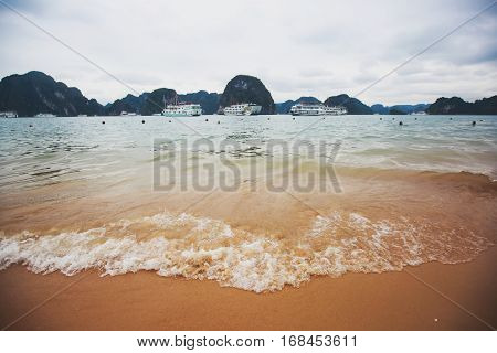Beautiful View Of Halong Bay, Vietnam, Unesco World Heritage Site, Scenic View Of Islands, Southeast