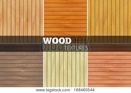 Colorful wood texture set illustration