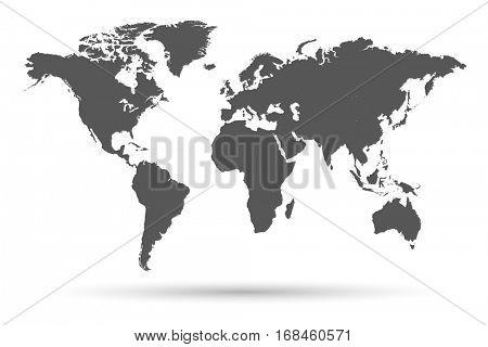 Dark World Map Illustration