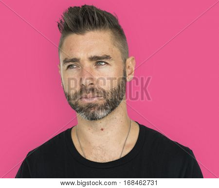Men Adult Spiky Hair Candid