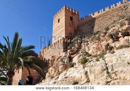 Alcazaba fortress in town Almeria in Andalucio,Spain