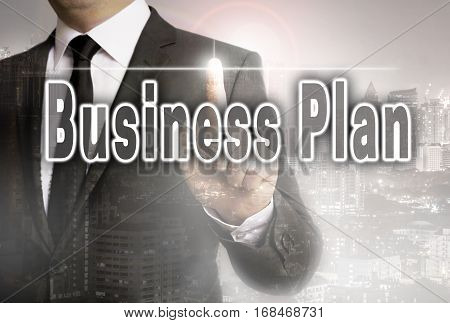 Business Plan Is Shown By Businessman Concept