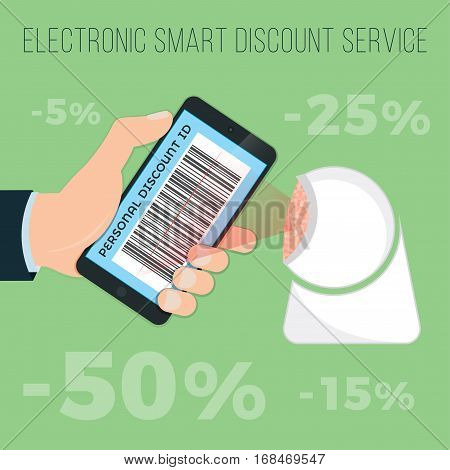 Get Discounts By E-discount Card In Your Phone (your Phone). Barcode Reader Carries Out Your Discoun