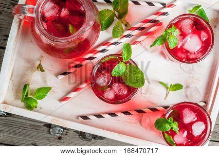 Summer Iced Red Drink - Tea Or Juice