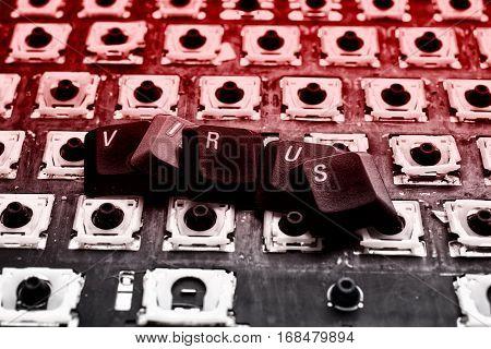 Sign Virus On Keyboard
