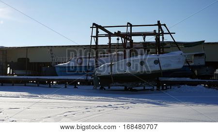 boat, storage, pier, slipway, old, transportation, transport, marine, support