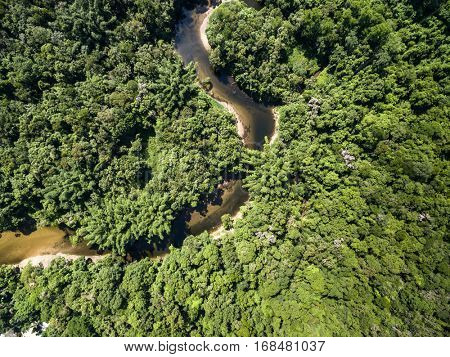 Aerial View of Amazon River, Brazil
