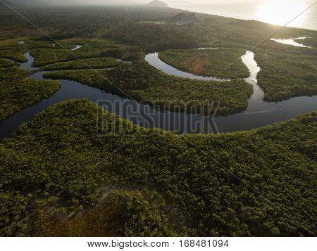 Aerial View of Amazon Rainforest, Brazil