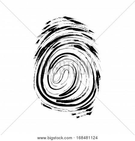 Vector icon. Fingerprint. Isolated illustration. Watercolor pattern eps jpg
