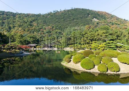Beautiful Japanese garden, Ritsurin Garden