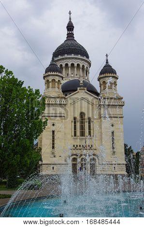 Orthodox Dormition Of The Theotokos  Cathedral. Cluj-napoca. Romania.