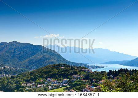 View of Herceg Novi, Kotor Bay, Montenegro