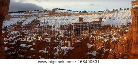 Panorama of queens court in Bryce Canyon