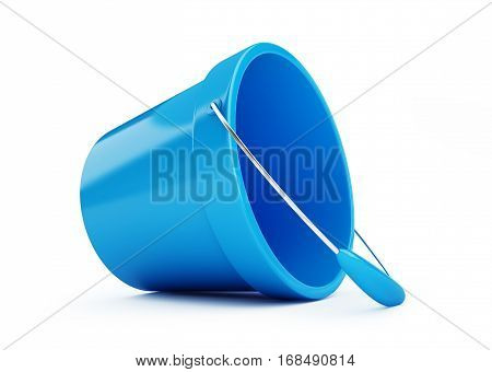 toy bucket blue on a white background 3D illustration