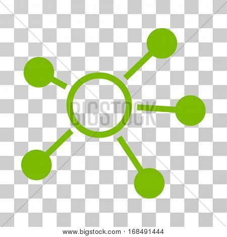 Connections icon. Vector illustration style is flat iconic symbol, eco green color, transparent background. Designed for web and software interfaces.
