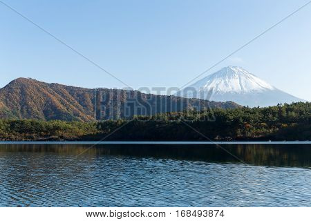 Mount Fuji and lake saiko