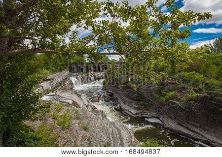 Waterfall Under A Bridge In Ottawa, Canada
