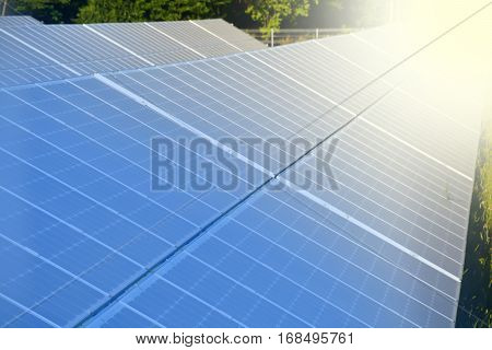 Solar or photo-voltaic panels producing green energy poster