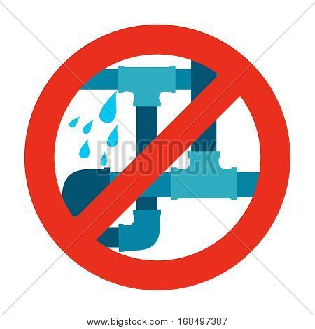 No water leak pipe icon sign. Vector illustration
