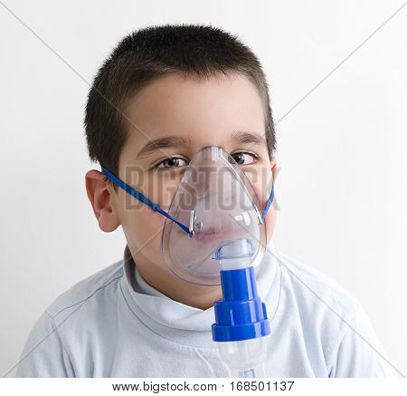 Oxygen Treatment for Cute Child