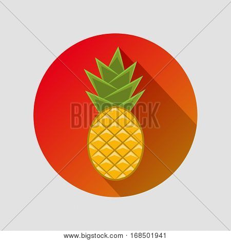 Pineapple In A Flat Style With An Inscription
