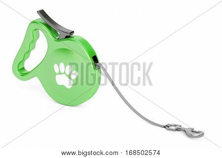 Automatic Retractable Traction Rope. Walking Lead Leash 3D rendering