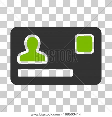 Banking Card icon. Vector illustration style is flat iconic bicolor symbol, eco green and gray colors, transparent background. Designed for web and software interfaces.