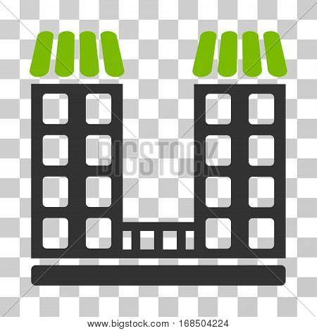 Company icon. Vector illustration style is flat iconic bicolor symbol, eco green and gray colors, transparent background. Designed for web and software interfaces.