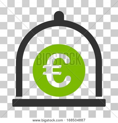 Euro Standard icon. Vector illustration style is flat iconic bicolor symbol, eco green and gray colors, transparent background. Designed for web and software interfaces.