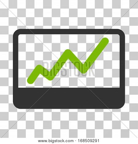Stock Market icon. Vector illustration style is flat iconic bicolor symbol, eco green and gray colors, transparent background. Designed for web and software interfaces.
