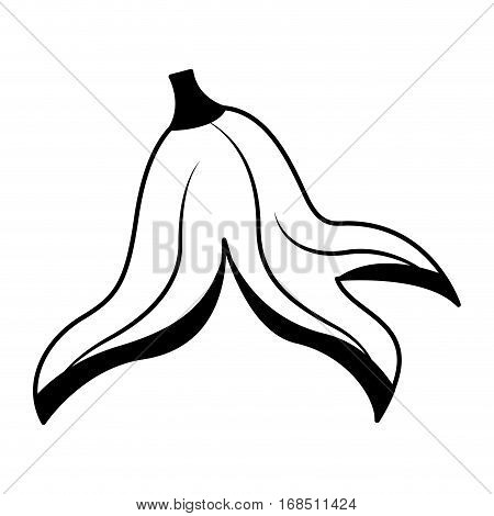 banana peel isolated icon vector illustration design
