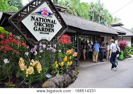 National Orchid Garden Sign