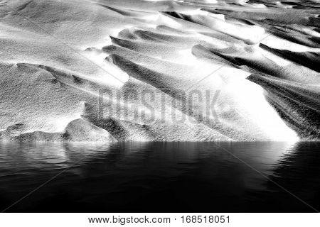 Snowdrift And Water