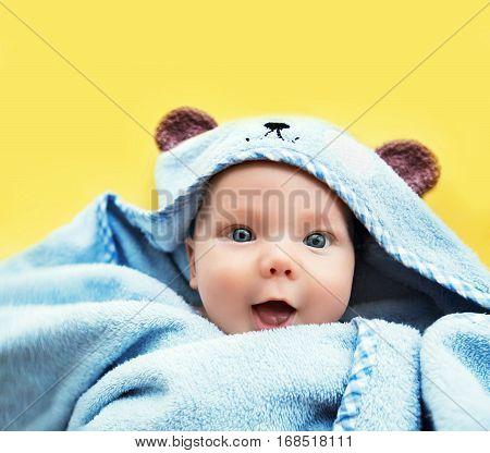 Cutest Baby Child After Bath