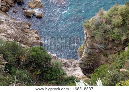 DUBROVNIK, CROATIA - DECEMBER 01: Pictorial blue Adriatic sea in Dubrovnik, Croatia on December 01, 2015.