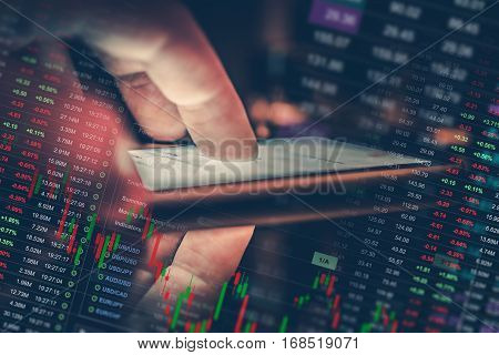 Mobile Forex Trader Concept. Checking on Global Currency Market While on the Go. Mobile Trading Application Conceptual Photo. Currency Trade.