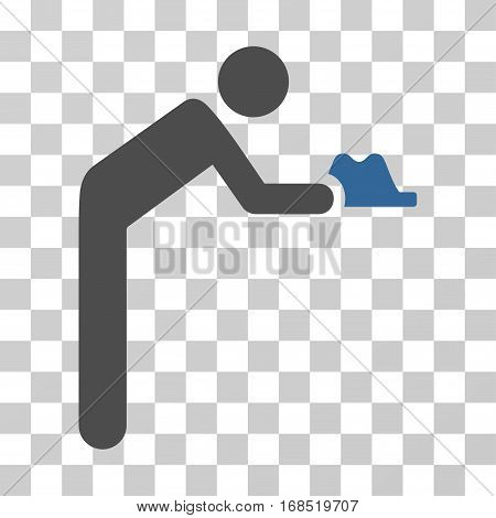Servant icon. Vector illustration style is flat iconic bicolor symbol, cobalt and gray colors, transparent background. Designed for web and software interfaces.