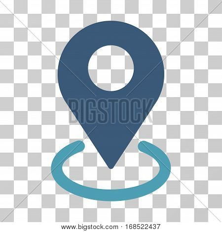 Geo Targeting icon. Vector illustration style is flat iconic bicolor symbol, cyan and blue colors, transparent background. Designed for web and software interfaces.