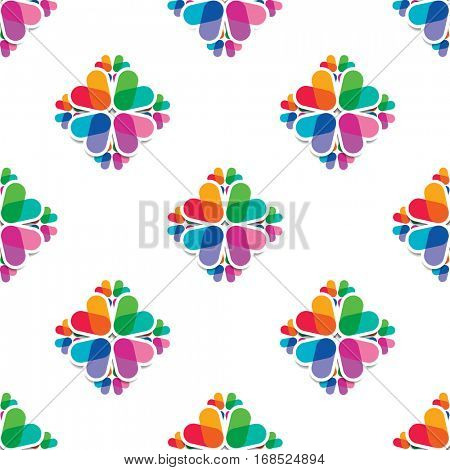 seamless pattern - overlapping colors elements.